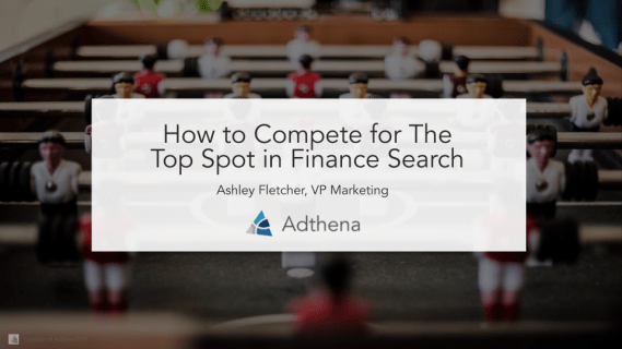 Finance search banner